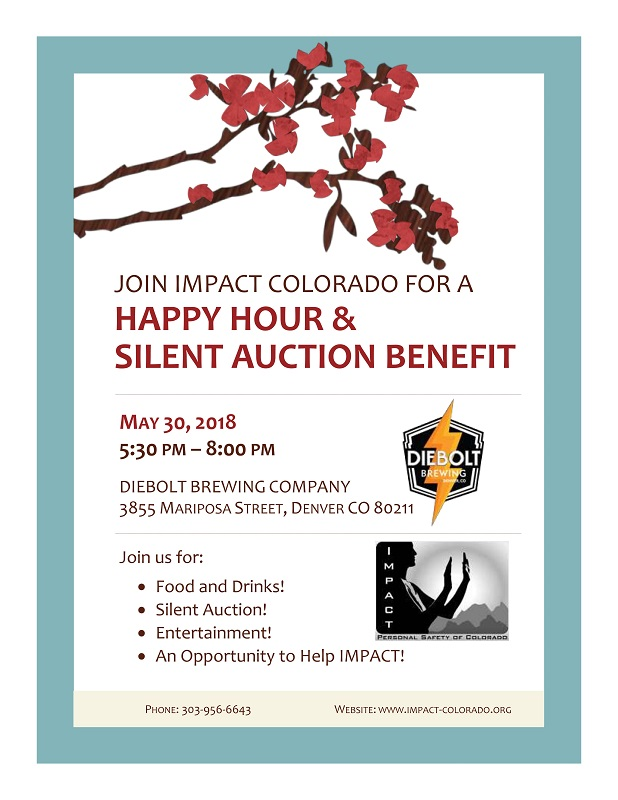 May 30th 2018 Happy Hour and Silent Auction at Diebolt Brewing Company